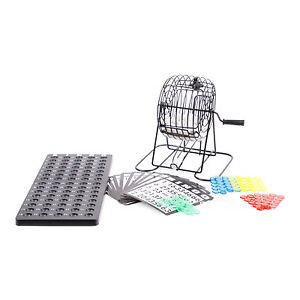 bingo spiel komplett set mit bingotrommel kugeln karten bingom hle aus metall ebay. Black Bedroom Furniture Sets. Home Design Ideas