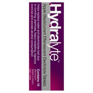 Hydralyte Apple Blackcurrant 10 Effervescent Electrolyte Tablets 1 pack