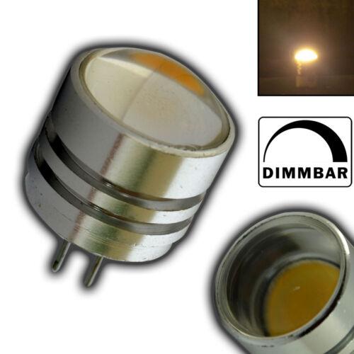 G4 1,5 Watt LED warmweiß  80° Grad dimmbar Alu 12V DC Birne Glühbirne Halogen