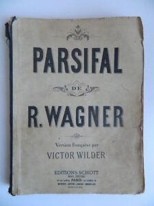 Richard-Wagner-Parsifal-Piano-Canto-Opera-Wilder-Kleinmichel-Schott-Partitura