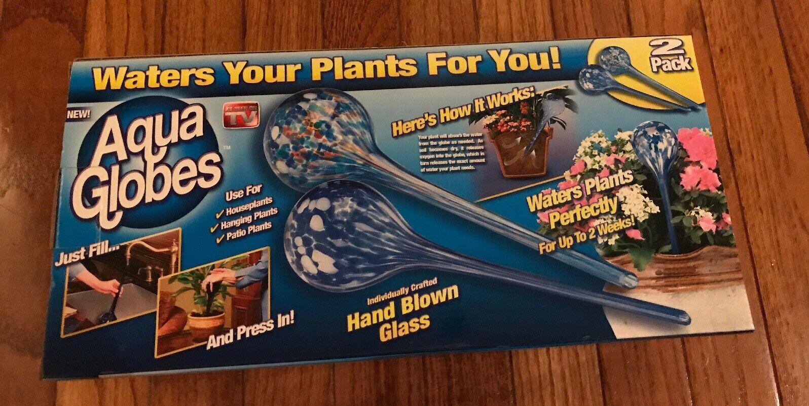 Aqua Globes Hand Blown Glass VINTAGE Retired Discontinued Rare HTF