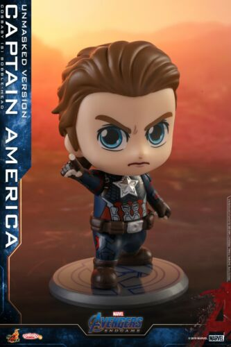 Hot Toys Bobble-Head Avengers:Endgame Cosbaby Captain America Unmasked Figure
