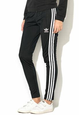 MED adidas Originals Women's SUPERSTAR slim fit TRACK PANTS black LAST1 | eBay