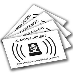 4-Stueck-Transparente-Aufkleber-Alarmgesichert-Alarmanlage-fuer-Innen-und-Aussen