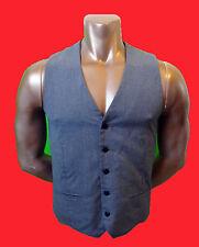 TOPMAN us40 Grey vest EUR 101cm gray grey pinstripe fitted medium