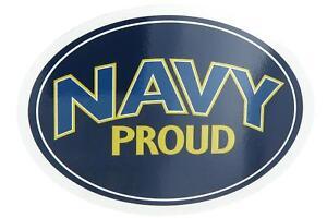 U.S. Navy Proud USN USA Military Oval Car Refrigerator Magnet