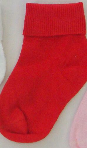 NEW 12 PAIRS CHILDRENS BABY KIDS SOCKS COTTON  PINK WHITE RED NAVY CREAM
