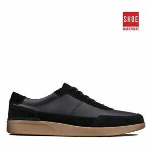 Clarks OAKLAND RUN Black Mens Sneaker Casual Leather Sneakers