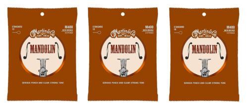 Light Martin M400 Mandolin Strings 3-Pack 10-34
