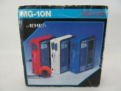 Very Rare Acme Cassette Size Stereo Player Mg-10n Walkman Style Org. Box Japan