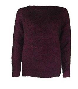 3cf7c489fb George Soft   Cosy Purple Black Round Neck Sweater Long Sleeve
