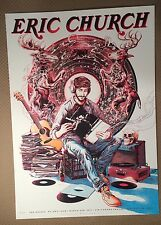 Eric Church 2017 Concert Poster Miles Tsang Air Canada Center AP Signed Numbered