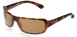 bbdc489b73e Image is loading POLARIZED-Authentic-RAY-BAN-HIGHSTREET-Tortoise-Brown- Sunglasses-