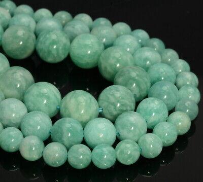Peruvian Amazonite Gemstone Grade AAA Round 6mm 8mm 10mm Loose Beads A270