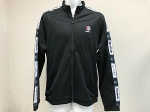 4294bdf4a0c Image is loading REEBOK-MENS-CLASSICS-TAPED-TRACK-TOP-DT8150-Black