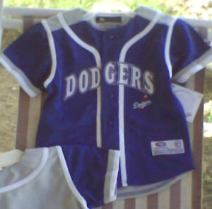 Los Angeles DODGERS Youth Baseball Jersey 2T 3T 4T NWT Blue Gray ... 170d1598623