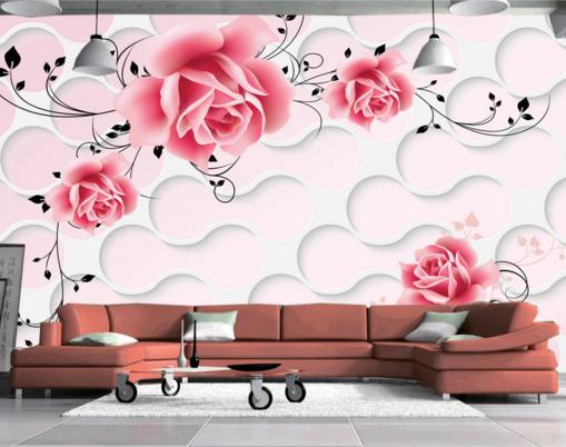 3D Creative Roses 864 Wall Paper Murals Wall Print Wall Wallpaper Mural AU Kyra