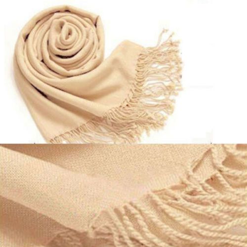 Wrap Scarf Fashion Women Winter soft Cashmere Silk Solid Long Pashmina Shawl