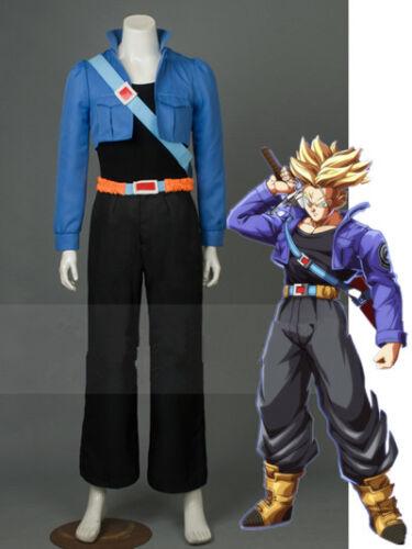 NEW Dragon Ball Z Trunks Blue Black Cosplay Costume FF.1523