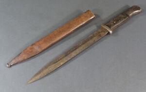 WWII-German-K98-Mauser-Bayonet-w-Matching-Scabbard-sheath-S-178-G-Gebr-Heller