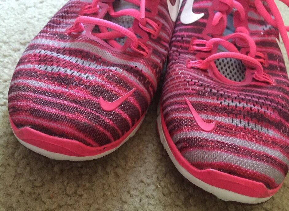 Excellent Women's Women's Women's Nike Free Cross Training shoes Fit 4 5.0 Fuchsia Force 10 e75e4b