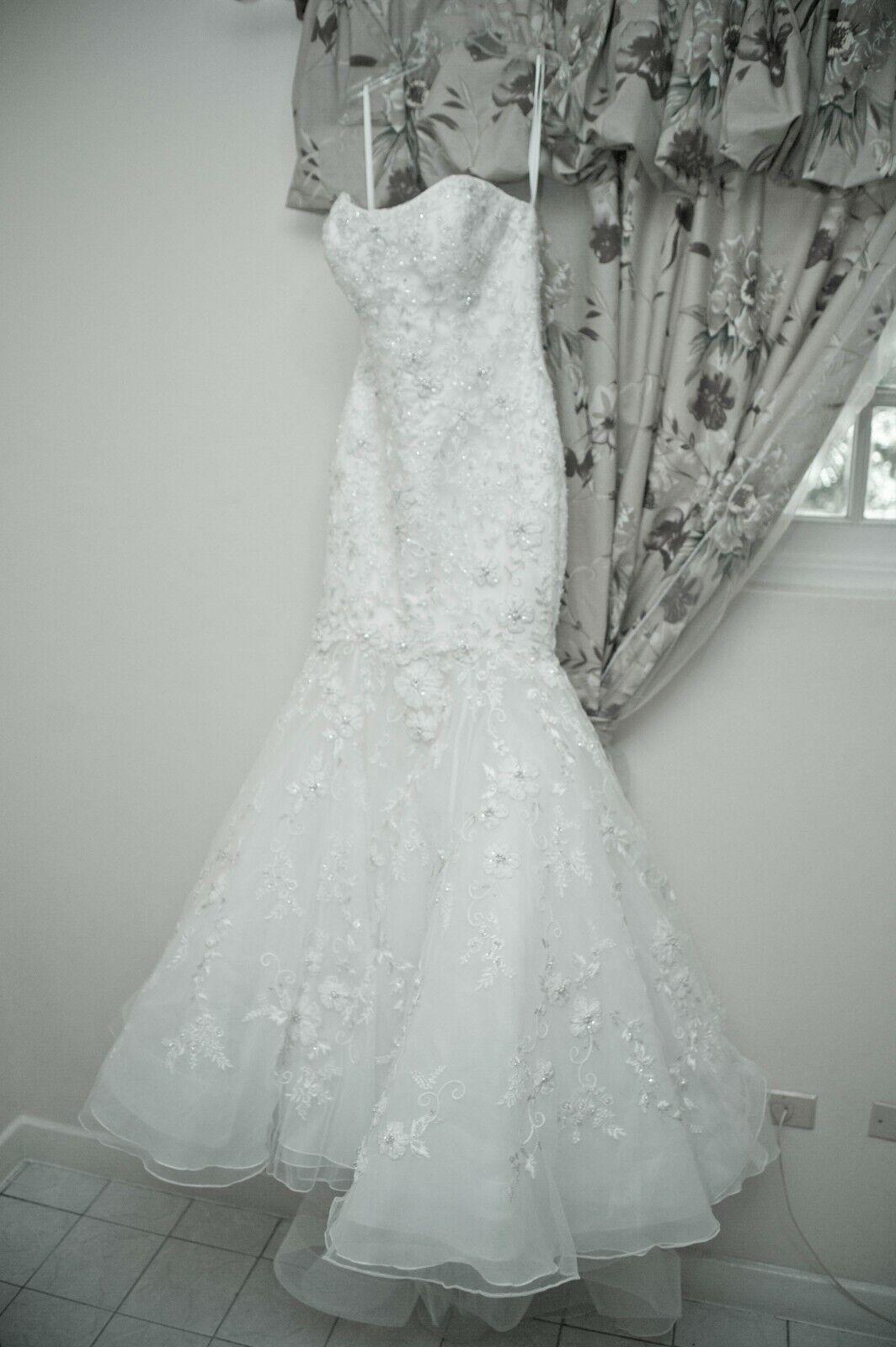 Allure Couture Mermaid Wedding Dress - C205 in Iv… - image 1
