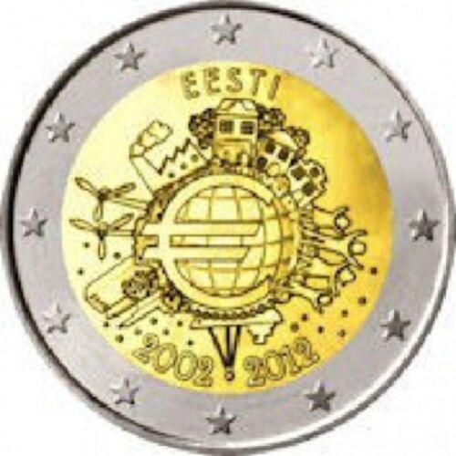 2012  TYE  Ten Years Euro comm UNC  from roll Estonia Estonie  Эстония 2 Euro