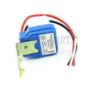 Automatic Night On Day Off Street Light Switch Photo Controls Sensor 12V 10A 9UK