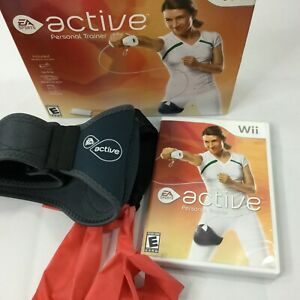 Nintendo-Wii-Active-Personal-Trainer-Workout-2009-Ea-Sports-Bands-Fitness