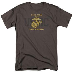 United-State-Marine-Corps-USMC-SPLIT-TAG-Few-Proud-Gray-Adult-T-Shirt-All-Sizes