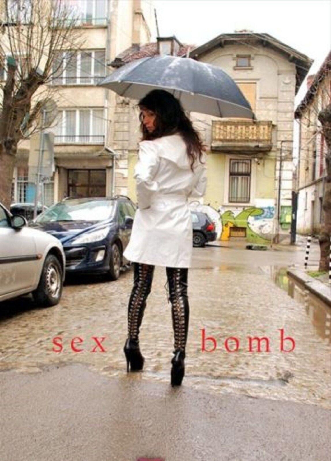 SEXY stivali neri STRINGATI COSCIA zip tacco 15 dal GLAMOUR 36 al 44 fashion GLAMOUR dal  ! 925139