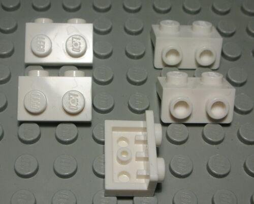 1282 Lego Platte Winkel 1x2 auf 1x2 Weiss 5 Stück