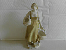 Ernst Wahliss Royal Vienna Figure of a girl with baskets