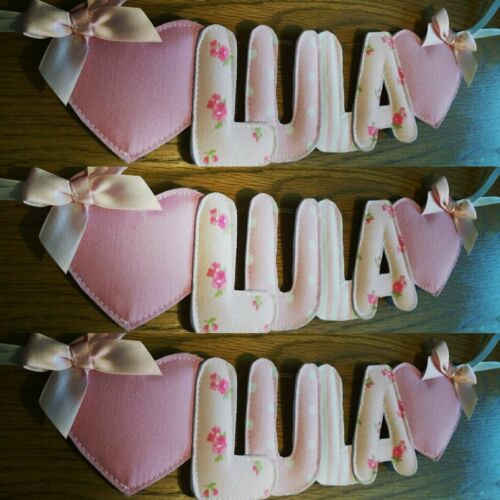 Princess Personalised handmade fabric padded lettered girls name bunting