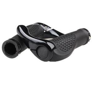 Cycling-Lock-On-Bicycle-Handlebar-Bike-Bar-Grips-Ends-Rubber-Mountain-MTB-Black