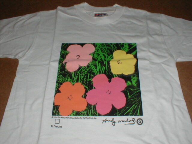 Andy Warhol girl boy childs S 6-8 Flower Print original 1996 t-shirt New in bag