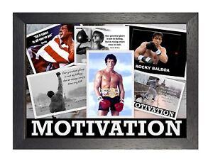 Detalles De Rocky Balboa Mix 2 Foto Poster Sylvester Stallone Motivación Inspiración De Impresión Ver Título Original