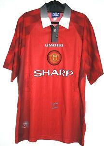 Manchester-United-shirt-football-1996-1997-1998-XL-46-034-48-034-96-97-98-Man-Utd