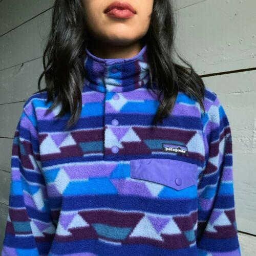 Patagonia Synchilla Snap T Printed Fleece Jacket … - image 1