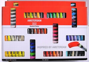 Amsterdam Acrylic Colour Paint Set 72 X 20ml Tubes Massive Range