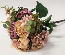Artificial Silk Peony Flower Bouquet (NO.4) -9 Colours Wedding Centrepiece Decor