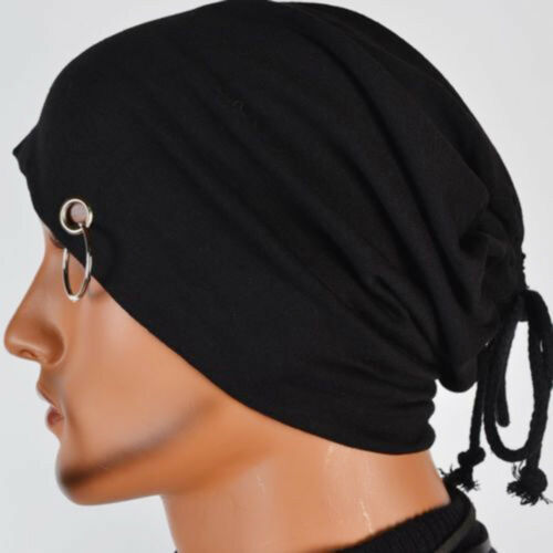 Hot Sale New Men Knit Beanie Slouchy Skull Cap Hat With Ring Fashoin Hip-Hop Hat