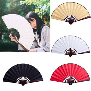 Silk Blank DIY Craft Fan Chinese Style Round Party Fan Hand Held Pocket Fan