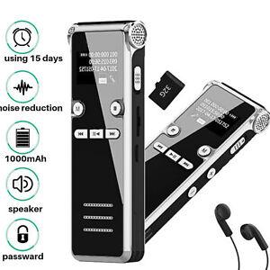 Voice-Digital-Activated-Recorder-Mini-microfono-ricaricabile-Sound-MP3-8GB