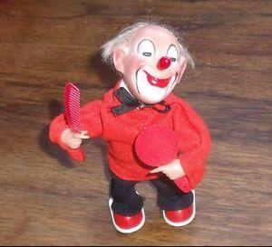Amical Clown Jouet Mécanique Automate Coiffeur Max Carl Original Western Germany Windup Design Professionnel