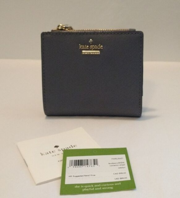 e5cc5cec2fd38 Kate Spade Cameron Street Adalyn Small Bifold Wallet Lead Pencil for ...