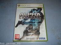 Alpha Protocol Xbox 360 Neuf Sous Blister (envoi Suivi)