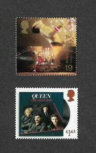 Queen-2020-amp-1999-Freddie-Mercury-stamps-mnh-Great-Britain-Rock-Music