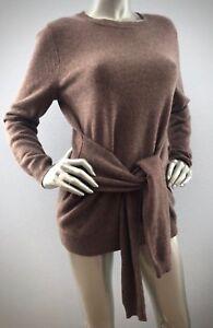 Antonio-Melani-139-Nwt-100-Cashmere-Tie-Waist-Pebble-Lesley-Sweater-XS-S-M-L