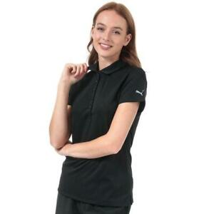 Women-039-s-Puma-Pounce-Short-Sleeve-Breathable-Polo-Shirt-in-Black-Size-12